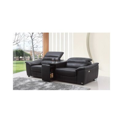 Cana Leather Reclining Sofa
