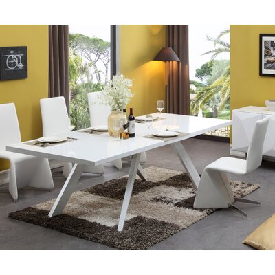 Belafonte Dining Table Finish: White and Grey