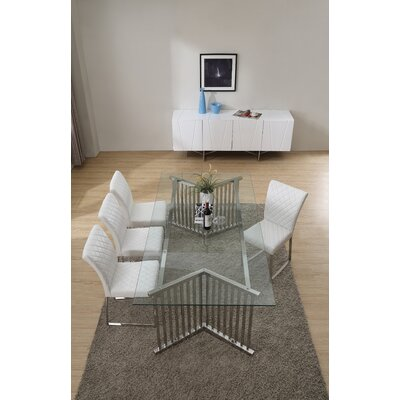 Camron Contemporary Metal Base Dining Table
