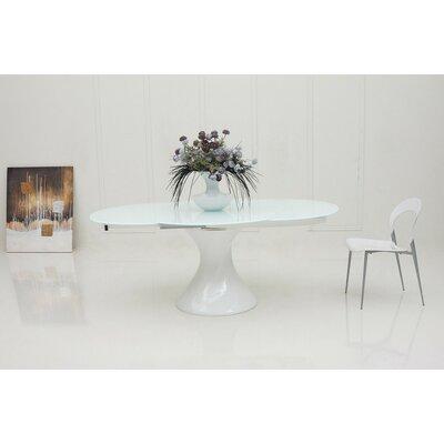Camron Extendable Wood Base Dining Table Finish: White