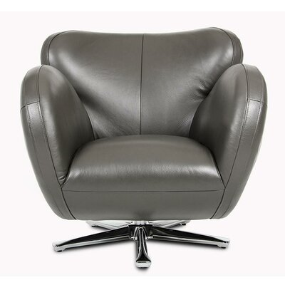 Cana Swivel Lounge Chair Upholstery: Grey