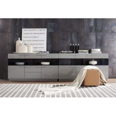 Belafonte Sideboard Finish: Grey High Gloss