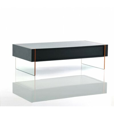 Camron Modern Rectangle Glass Base Coffee Table