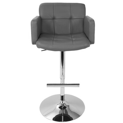 Jamel Adjustable Height Swivel Bar Stool