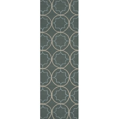 Becker Stormy Sea Circle Rug Rug Size: Runner 26 x 8