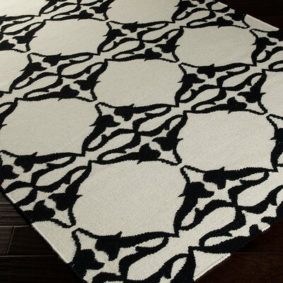 Drysdale White Geometric Area Rug Rug Size: Rectangle 36 x 56