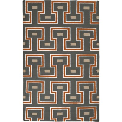 Litchfield Geometric Handmade Wool Area Rug Rug Size: Rectangle 5 x 8