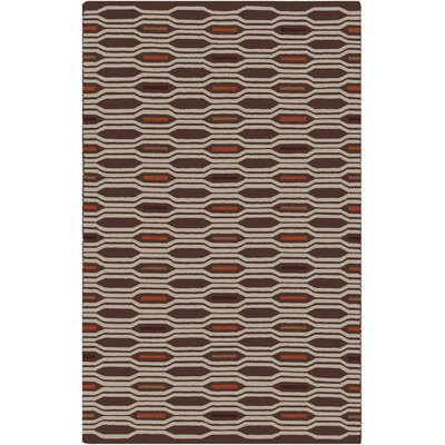 Litchfield Russet Geometric Area Rug Rug Size: Rectangle 8 x 11