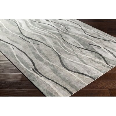 Aurora Abstract Hand-Tufted Gray Area Rug Rug size: 5 x 8