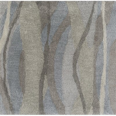 Aurora Hand-Tufted Gray Area Rug Rug size: Rectangle 36 x 56