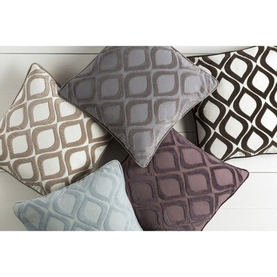 Alturas Throw Pillow Cover Size: 18 H x 18 W x 0.25 D, Color: PurplePurple