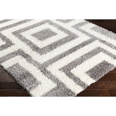 Cassava Gray/Neutral Area Rug Rug Size: 53 x 73