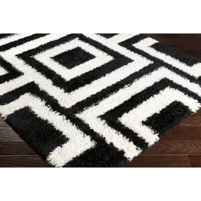 Ashlie Black/Neutral Area Rug Rug Size: Rectangle 710 x 102