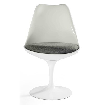 Bailey Side Chair Upholstery Color: Gray, Frame Color: White