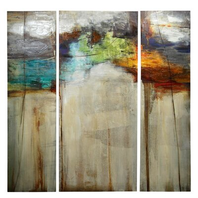 'Underneath it All' 3 Piece Painting Print on Canvas Set