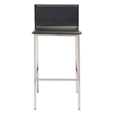 Kirk 39 Bar Stool Upholstery: Black