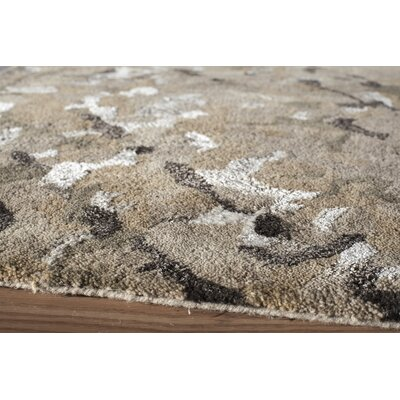 Aker Hand-Tufted Brown Area Rug Rug Size: 36 x 56