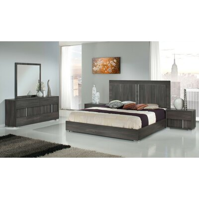 Shelburne Italian Panel 5 Piece Customizable Bedroom Set Size: King