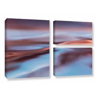 'Wavescape 2' 3 Piece Photographic Print on Wrapped Canvas Set