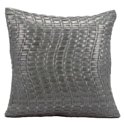 Tiefort Leather Throw Pillow Color: Gray