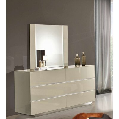 Camron 6 Drawer Dresser with Mirror