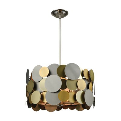 Campden 4-Light Drum Pendant