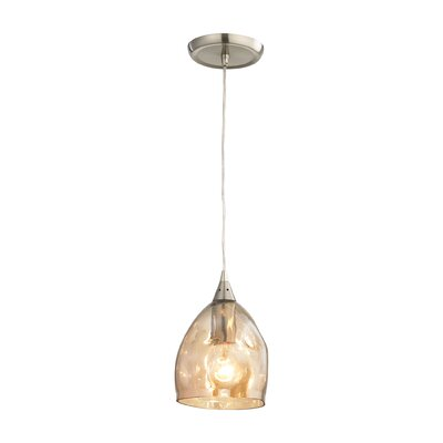 Victor 1-Light Mini Pendant Shade Color: Champagne Plated
