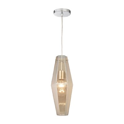 April 1-Light Mini Pendant Shade Color: Champagne Plated