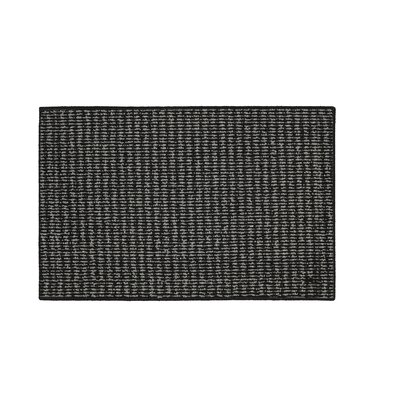 Amalthea Machine woven Black/Charcoal Area Rug Rug Size: Runner 18 x 5