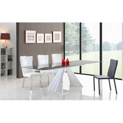 Camron Extendable Glass Top Dining Table