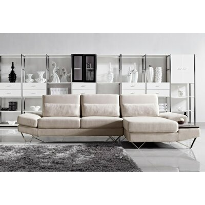 Cana Contemporary Solid L-Shaped Sectional
