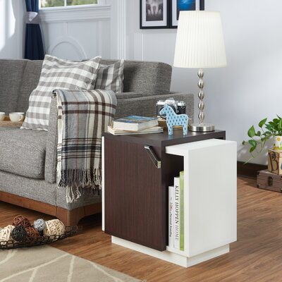Polytric End Table Finish: Walnut/White