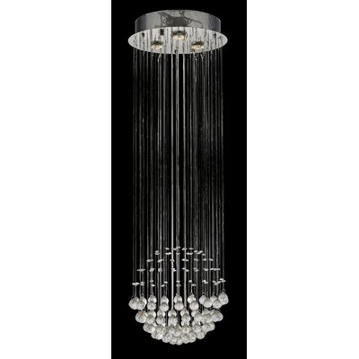 Uday 3-Light Crystal Chandelier