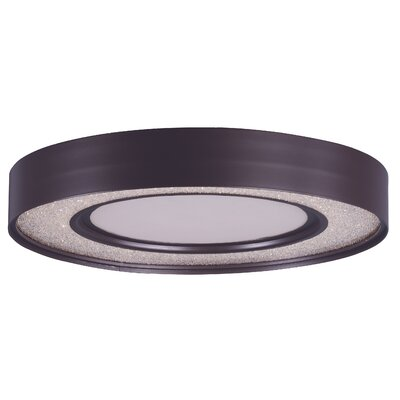 Ciaran 1-Light Flush Mount Size: 3.75 H x 15.5 W x 15.5 D