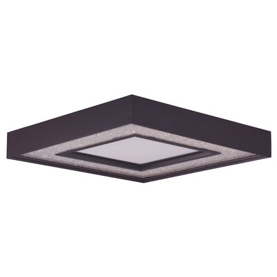 Ciaran 1-Light Metal Flush Mount Size: 3.75 H x 23.5 W x 23.5 D
