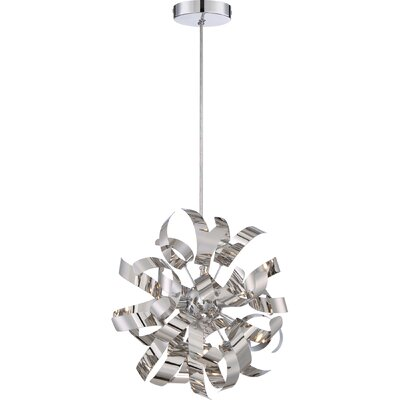 Copeland 3-Light Cord Hung Geometric Mini Pendant Finish: Bronze