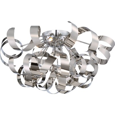 Loredo 5-Light Flush Mount Finish: Chrome