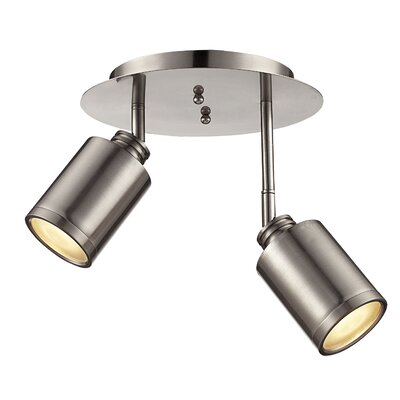 Isai 2-Light Metal Spotlight Finish: Brushed Nickel