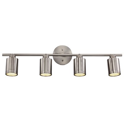Cimarron 4-Light Track Light Finish: Brushed Nickel