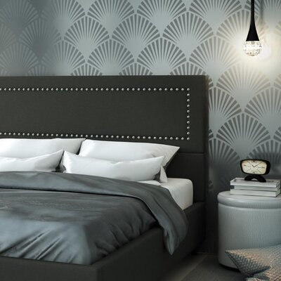 Pierre Upholstered Panel Headboard Upholstery: Matte Charcoal Black, Size: Full