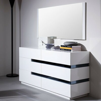 Marley 6 Drawer Dresser with Mirror