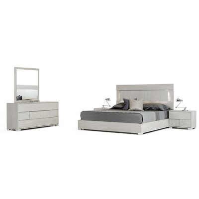 Camron Contemporary Platform Customizable Wood Bedroom Set
