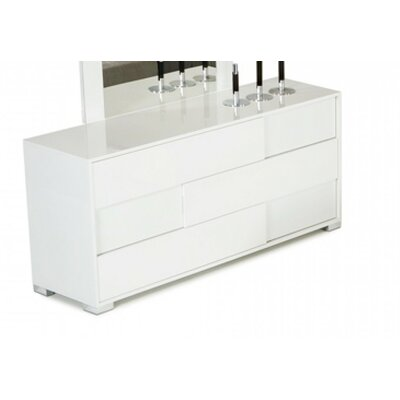 Camron 3 Drawer Wood Standard Dresser Color: White