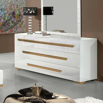 Camron Contemporary 3 Drawer Dresser with Mirror