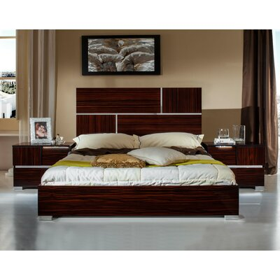 Marley Panel Bed Finish: Ebony, Size: Eastern King