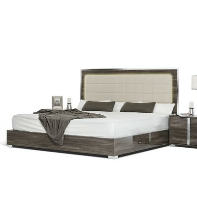 Marley Upholstered Panel Bed Size: Queen, Finish: Gray