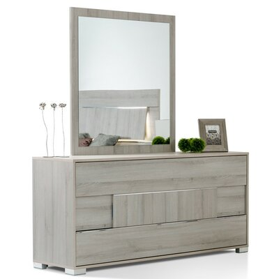 Camron Modern 3 Drawer Dresser with Mirror