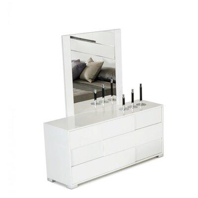 Camron 3 Drawer Wood Dresser with Mirror