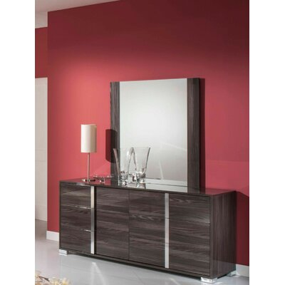 Camron Contemporary 6 Drawer Wood Dresser with Mirror