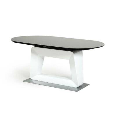 Camron Modern Extendable Wood Base Dining Table